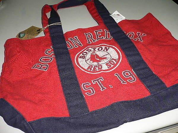 貳拾肆棒球-日本帶回MLB大聯盟波士頓紅襪UNIQLO環保袋購物袋