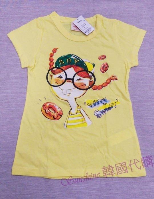 現貨零碼 正韓童裝 女童 CLUBKID 甜甜圈Q娃娃 Verry Sweet 上衣 T恤