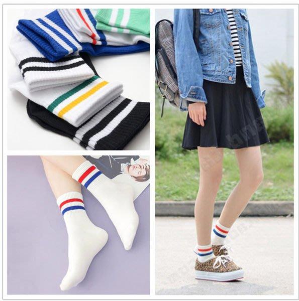 (全館一件免運費)純棉短筒襪線條圖案配色短襪子(FF-346)