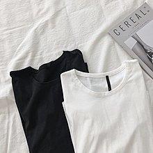 M SELECT 韓版東大門 基礎必備 百搭圓領T恤 下擺不規則 寬鬆長袖 開叉T恤 打底衫