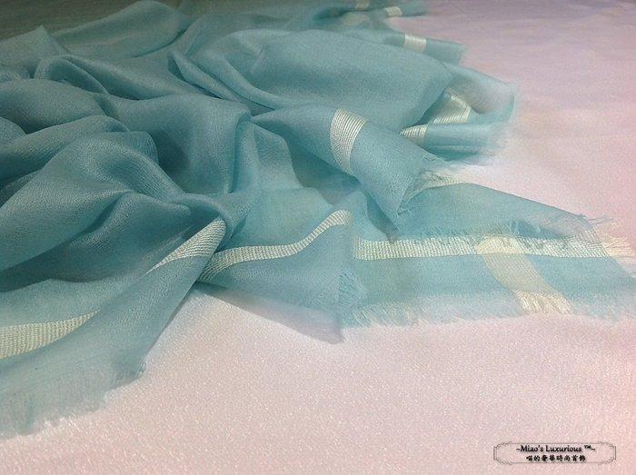 小奢侈系列真絲編清爽薄荷綠300支紗100% cashmere Pashmina Sahamina喀什米爾圍巾披肩