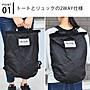 乾媽店。日本 時尚 個性款 防潑水加工 2way 簡易型後背包 手提包 折疊收納 輕量