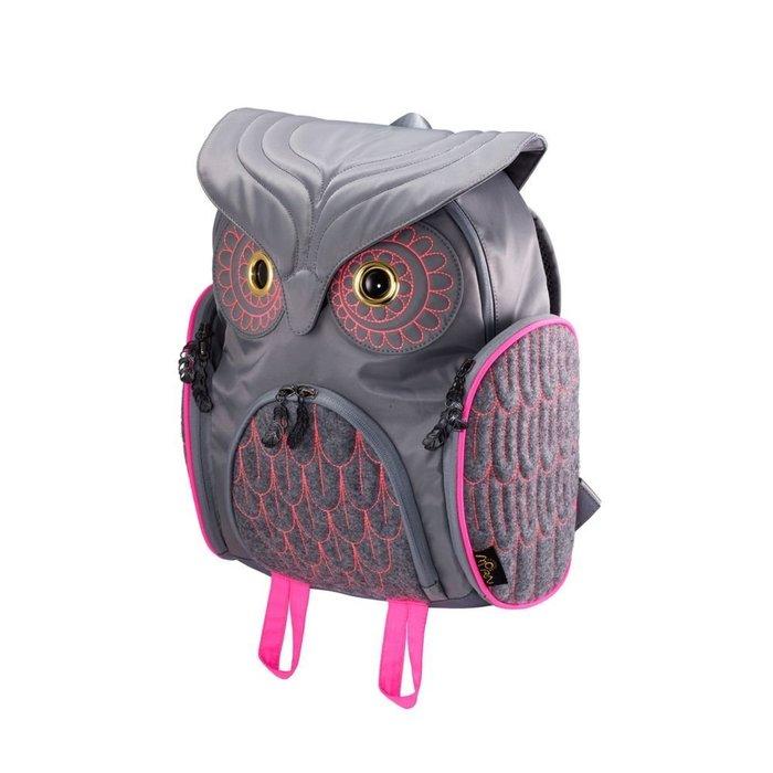撞色貓頭鷹後背包(M) ,實品拍攝有店面,香港Morn Creations授權🌟最特別的禮物都在奧爾思🌟