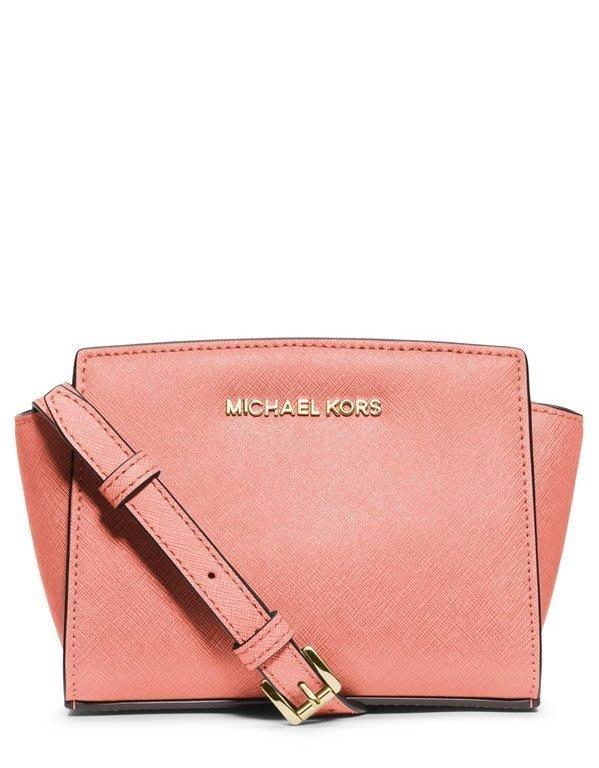 Coco 小舖 MICHAEL Michael Kors Selma Mini Messenger Bag 淺粉紅色