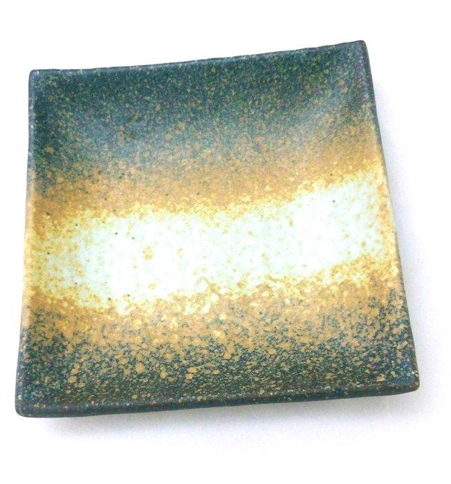 【心聚福香堂】(Y19)清水燒京都陶瓷藝品古樸方型盤 小碟皿日式碗盤 藝術追求日本空運限量特價$399