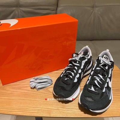 Sacai x Nike Vaporwaffle 聯名鞋款 👟 黑/白/黃綠/酒紅
