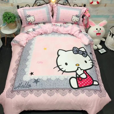 *暖暖本舖* 可來圖訂製圖案 冰雪奇緣 汪汪隊 變形金剛 佩佩豬 多拉A夢 米老鼠 床單 床苙 床裙 床罩 KT貓