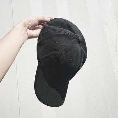 素色水洗復古做舊鴨舌帽夏男女潮帽子美式街頭休閒軟頂彎檐棒球帽