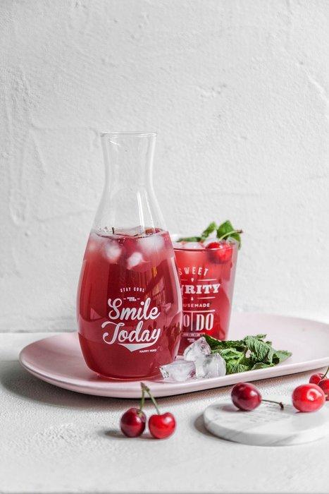 - Meiprunus -原創 設計 北歐 英文 文字 字母 冷熱水瓶 玻璃瓶 廣口瓶 果汁瓶 飲料瓶(M)850ml