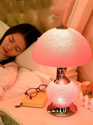 美式臺燈臥室床頭燈溫馨創意浪漫家用歐式臺燈女結婚房陪嫁長命燈