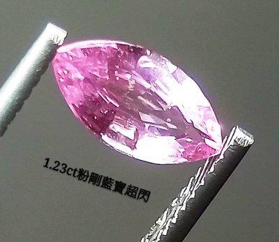 【台北周先生】1.23克拉 天然藍寶石 粉紅剛玉 粉剛 錫蘭 濃艷粉色 火光超閃