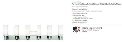 Forecast Lighting 美式 現代風 浴室 廚房 壁燈