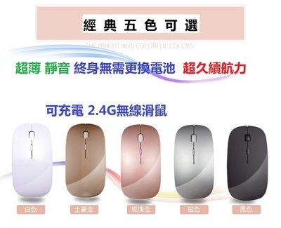 無線滑鼠 2.4G 使用與 macbook 聯想 華碩 微軟 等筆電專用 超薄 靜音 內置鋰電池可充電 超長待機 滑鼠