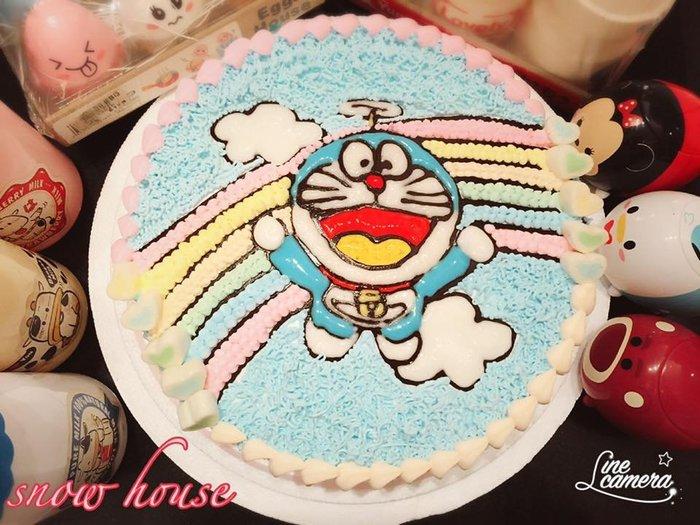 ❤ 歡迎自取 ❥ 雪屋麵包坊 ❥ 彩虹小叮噹 ❥ 十吋生日蛋糕 ❥❥ 送彩色蠟燭唷