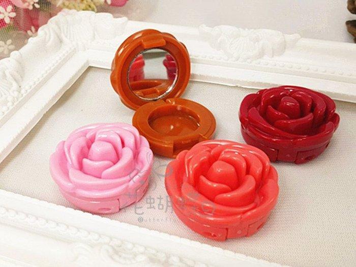玫瑰花瓣花朵唇膏口紅壓盤空盒眼影口紅分裝壓盤空盤(帶鋁盤)