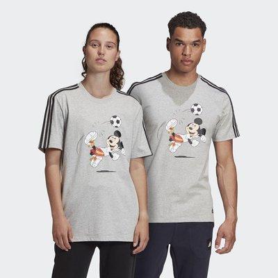 【豬豬老闆】ADIDAS DISNEY 灰色 短袖 短T 米奇 休閒 運動 訓練 男女款 GQ0978