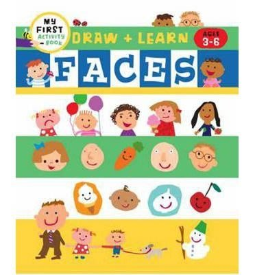* 英文繪本 / 英文童書 * (My First Activity Books: Draw + Color Fun)  Faces 96頁塗鴉書