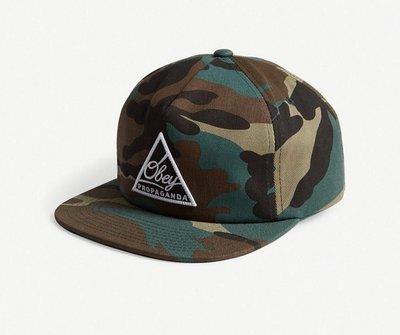 美國OBEY Logo camouflage snapback cap(預購)