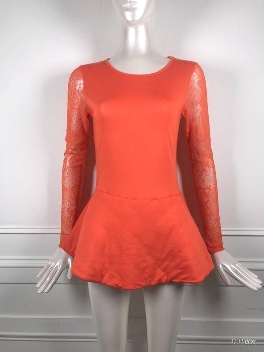 [我是寶琪] 關穎二手商品 IZZUE蕾絲袖子橘洋裝