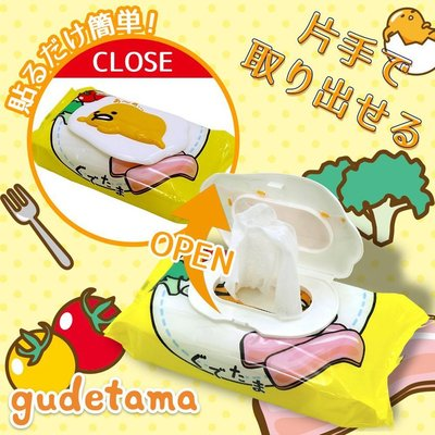 Baby's Go!! 日本LEC 凱蒂貓/ 美樂蒂/ 蛋黃哥卡通造型濕紙巾蓋/ 重覆黏貼/ 紙巾盒蓋/ 溼巾蓋 新北市