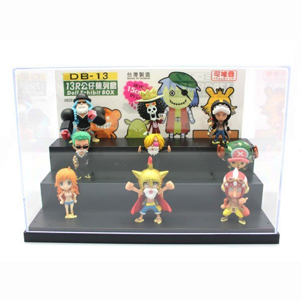 【13R公仔收納盒】展示盒 陳列盒 置物盒 模型盒 7-11公仔盒 玩具盒[金生活]