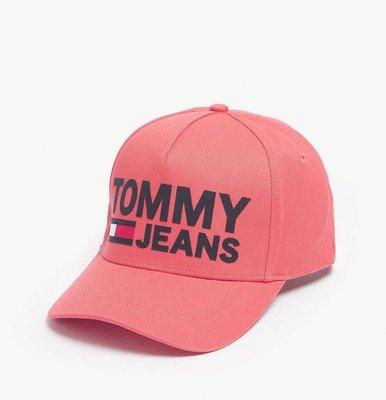 (預購)TOMMY JEANS Flock logo cotton snapback cap 棒球帽(粉色區)