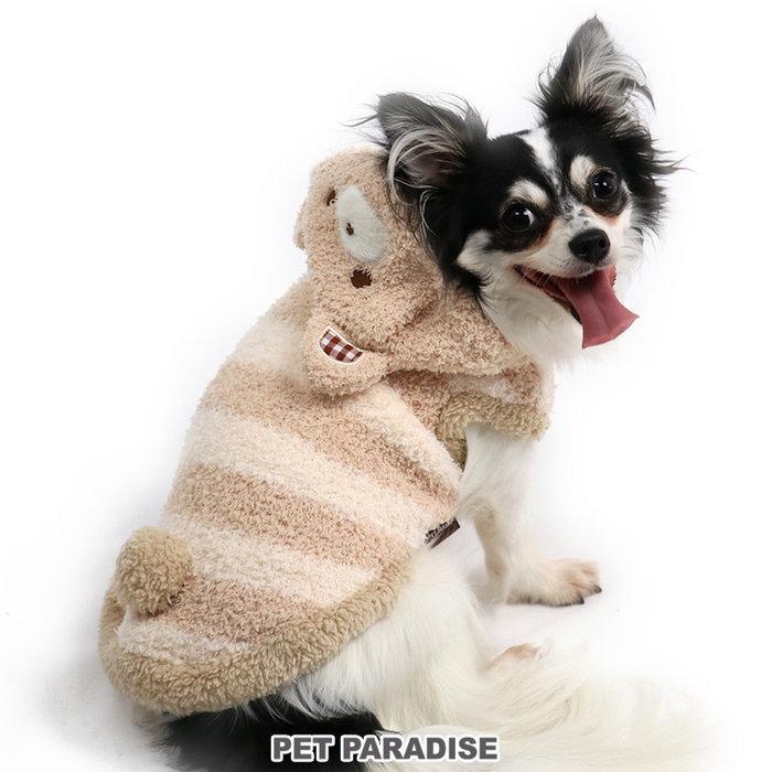 貝果貝果 日本 pet paradise 可愛熊熊羊羔絨保暖連帽衫 [D13427]