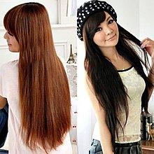 PS樂【CP031】一片式半頂五扣 氣質長直髮片假髮 高溫髮絲 可電棒燙