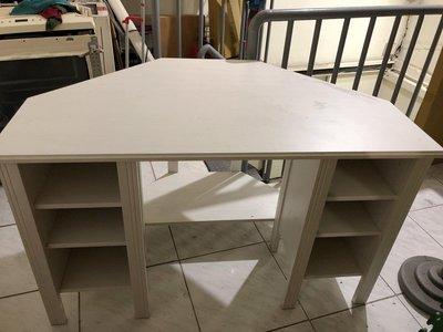 IKEA高級邊桌 白色可當化妝桌 九成新以上 便宜出售