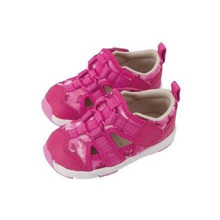 Combi 康貝 活力迷彩幼兒機能涼鞋-薔薇粉
