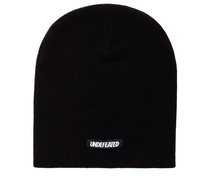 【 超搶手 】 全新正品 UNDEFEATED HD BEANIE 素色 毛帽 冷帽 黑色