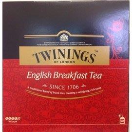 特價3盒~TWININGS 唐寧 英倫 早餐茶 紅茶 - 紅盒100包