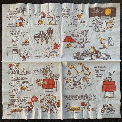 ❤Lika小舖❤S1卡通動畫款...33cm 餐巾紙蝶谷巴特蝶古巴特 史奴比 查理布朗 史努比 小黃鳥 單張售價