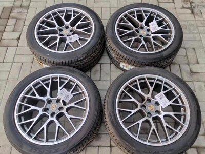 【YGAUTO】二手時間 保時捷macan 21寸鳥巢鋁圈輪胎  原產原裝進口全新套件 BBS代工產  當派/排氣管