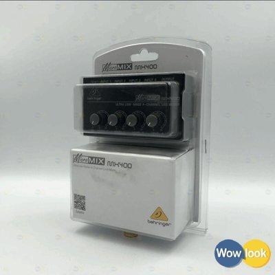 全新 Behringer MX400 口袋混音器|4in-1out 超低噪 獨立音量鈕|保30個月【Wowlook】