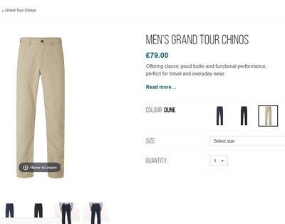英國Rohan Men's Grand Tour Chinos高品質 春夏長褲 特價