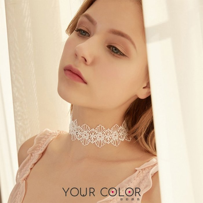 編織頸鏈/白|性感配件|10D2|YourColor 你的顏色