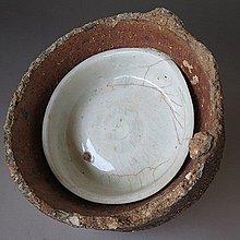【 金王記拍寶網 】J3116 宋代窯洞出土 青白釉 定窯碗 窯燒缽青白釉紋碗 一件 罕見稀少~