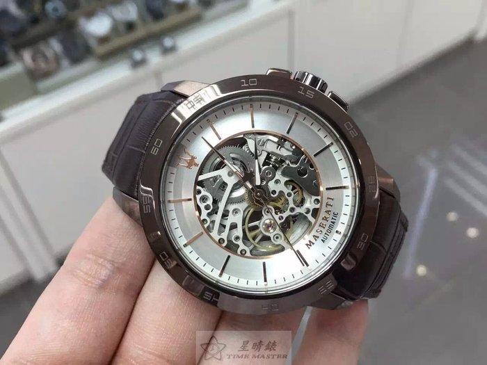 請支持正貨,瑪莎拉蒂手錶MASERATI手錶INGEGNO款,編號:MA00013,銀色錶面黑色皮革錶帶款