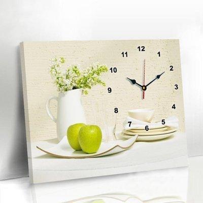 哆啦本鋪 現代客廳餐廳裝飾畫免打孔簡約電表箱掛畫創意鐘表壁畫歺廳畫掛鐘 D655