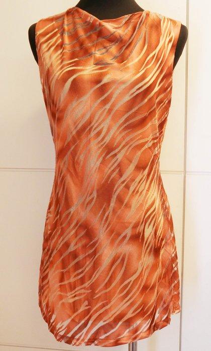 破盤清倉大降價!近全新 ROBES 羅培斯設計款橙橘色咖啡色豹紋合身顯瘦款洋裝,低價起標無底價!本商品免運費!