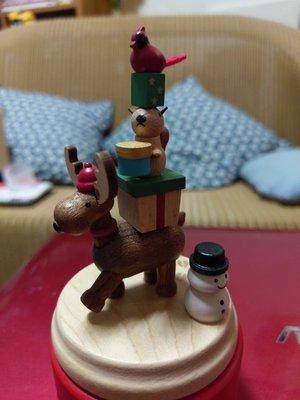 台灣知音文創 聖誕轉盤音樂鈴 聖誕季節禮品