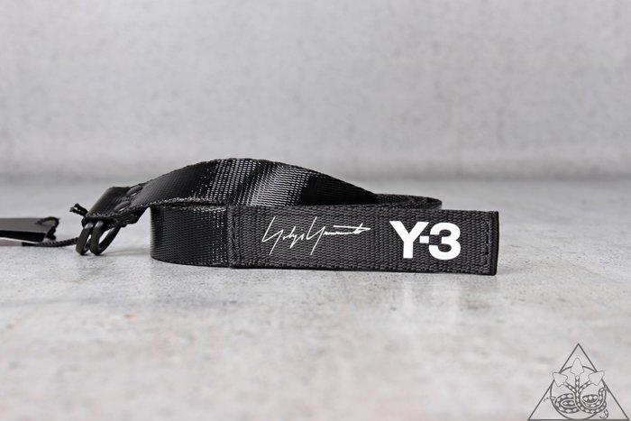 【HYDRA】Y-3 Mini Belt 黑 白字 布料 尼龍 皮帶 金屬 環扣【FH9340】