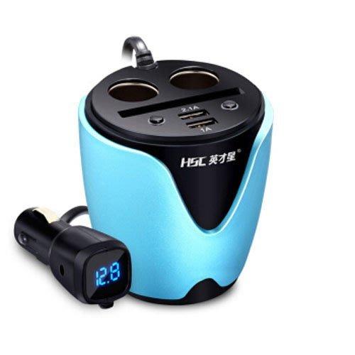 【音樂天使英才星】英才星HSC-200D 杯充獨立開關 USB車充 杯座杯架 汽車點菸器車充擴充點煙器擴充座