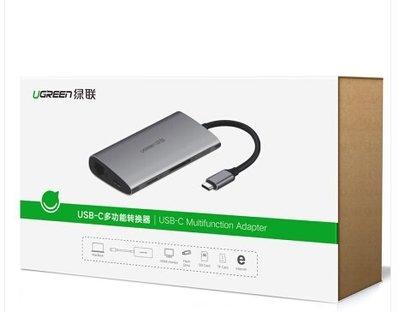 綠聯 50539 Type-C 多功能轉換器 Type-C 轉 VGA +網路卡+ SD TF 讀卡機