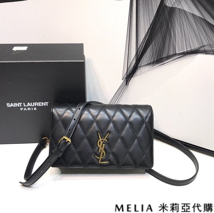 Melia 米莉亞代購 商城特價 數量有限 每日更新 Saint Laurent YSL ANGIE 小羊皮鍊條包 黑色