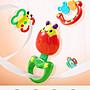 嬰兒玩具牙膠手搖鈴鐺寶寶3- 6- 12個月益智新...