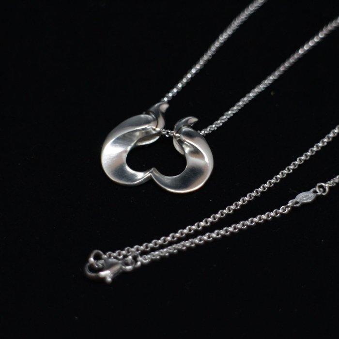 【小麥的店】實品拍攝* GEORG JENSEN喬治傑生復刻版1995年設計師款<愛情鳥>純銀項鍊