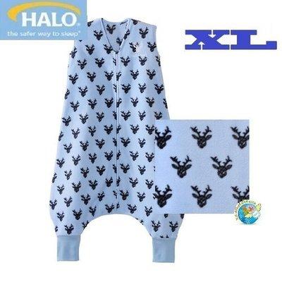 X.H. Baby【美國HALO】SleepSack Early Walker 防踢被 背心 睡袋 秋冬刷毛 藍色麋鹿