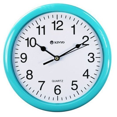 ☆D&J市集小站☆ 【KINYO】耐嘉~馬卡龍靜音掛鐘(CL-108)掃描機芯 圓型 8吋/時鐘